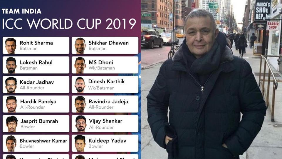Rishi Kapoor,Team India World Cup 2019,cricket World Cup 2019