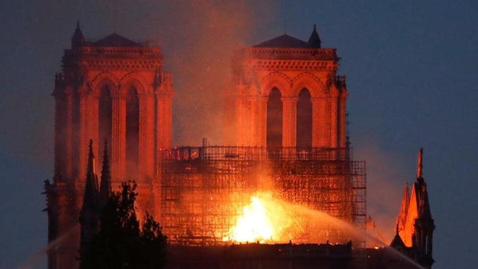 Paris' Notre Dame cathedral on fire