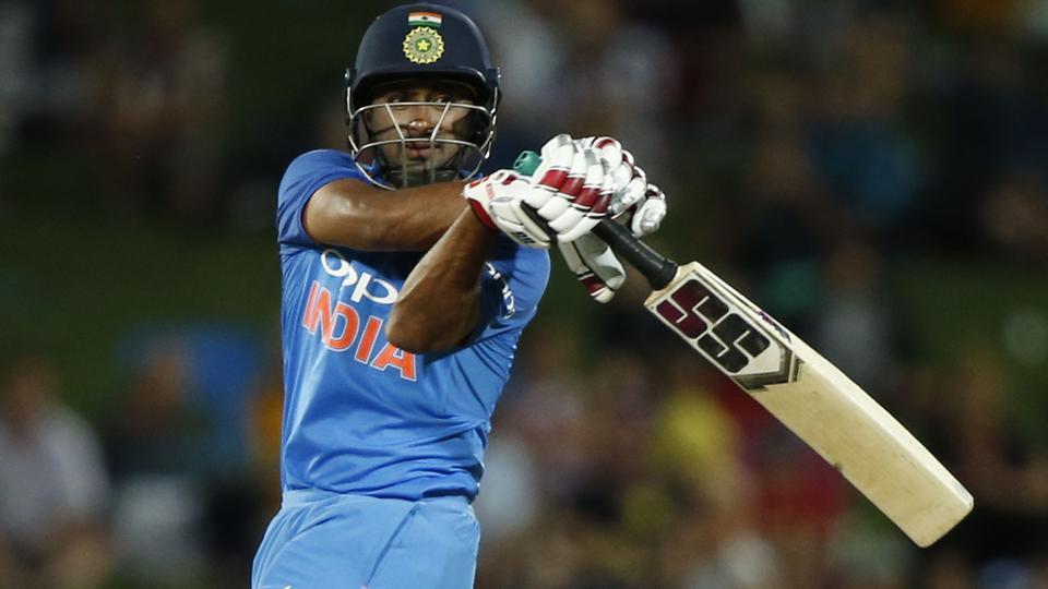 India's Ambati Rayudu plays a pull shot.