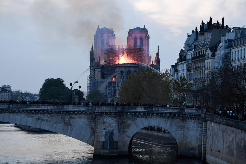 Notre-Dame Cathedral,Paris,Fire