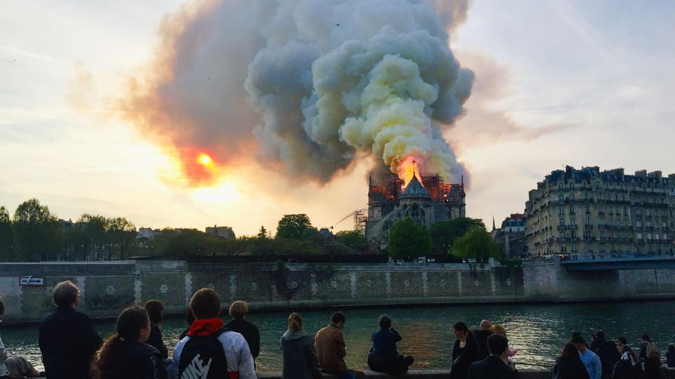 'Worst avoided,' says Macron on Notre-Dame fire; vows to re-build cathedral