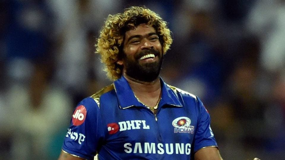Mumbai Indians (MI) player Lasith Malinga celebrates after claiming the wicket of Dwayne Bravo during the Indian Premier League 2019 (IPL T20) cricket match between Mumbai Indians (MI) and Chennai Super Kings (CSK) at Wankhede Stadium in Mumbai, Wednesday, April 3, 2019.