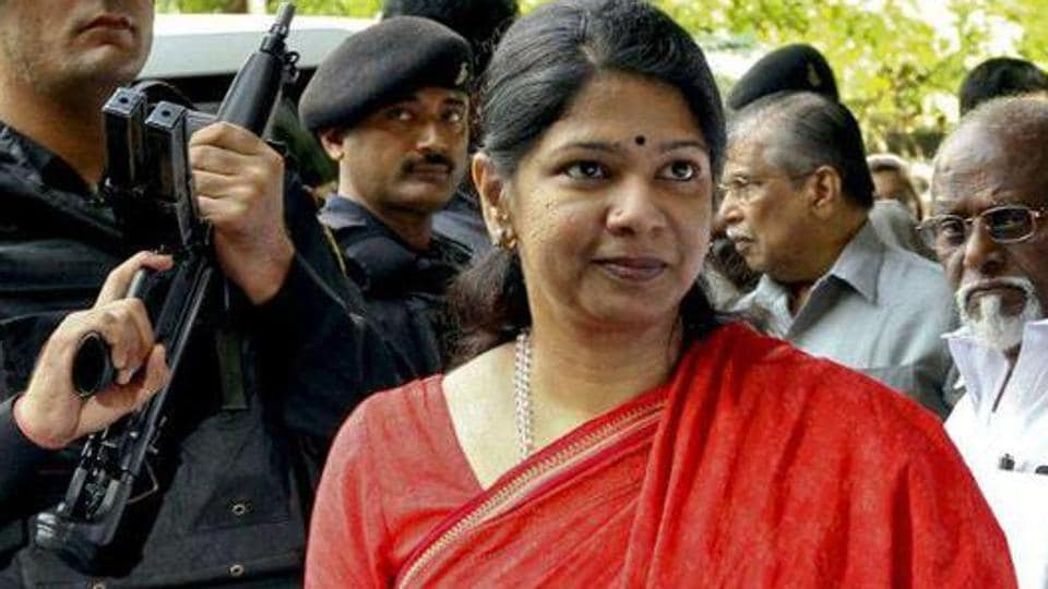 The income tax department raided the house of DMK leader Kanimozhi in Tamil Nadu's Thoothukudi on Tuesday