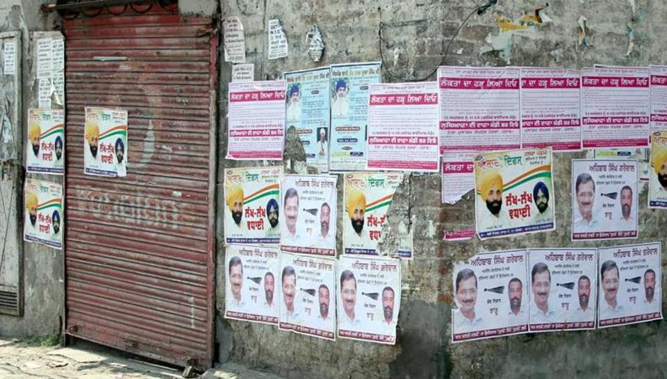 Over three lakh hoardings, banners and posters of political parties have been removed from various parts of Delhi till date.
