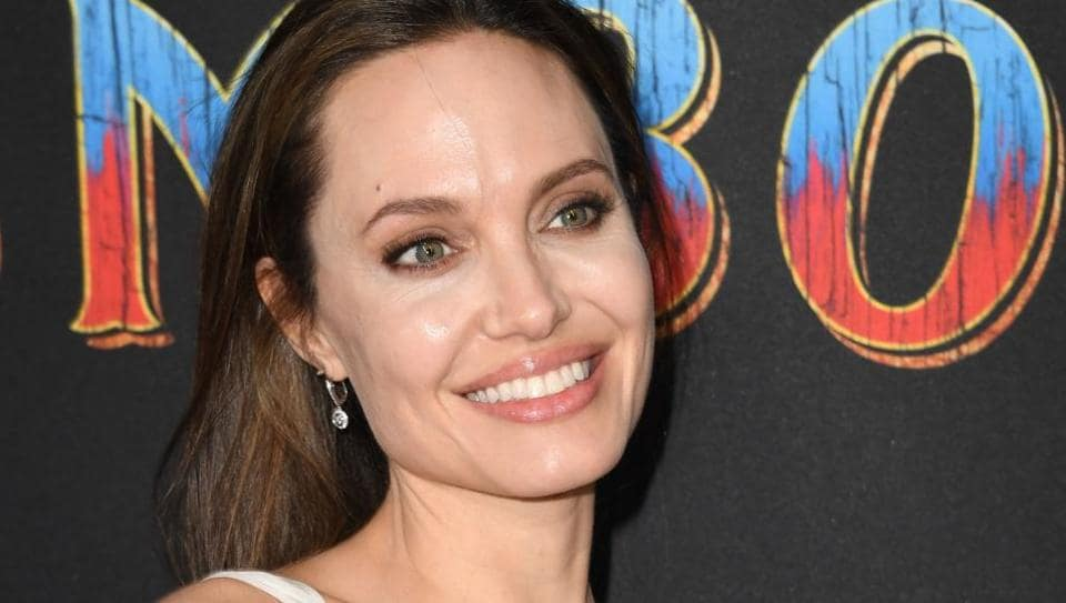 US actress Angelina Jolie arrives for the world premiere of Disney's Dumbo.
