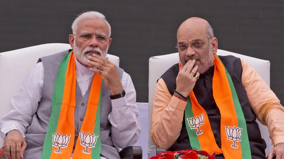 Prime Minister Narendra Modi, left, with Bharatiya Janata Party (BJP) president Amit Shah. The BJP has lined up election rallies in Rajasthan for the them in the coming weeks ahead of Lok Sabha elections.