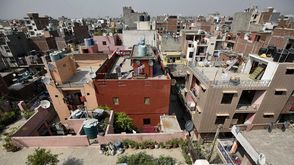 unauthorised colonies,Delhi,Satellite image