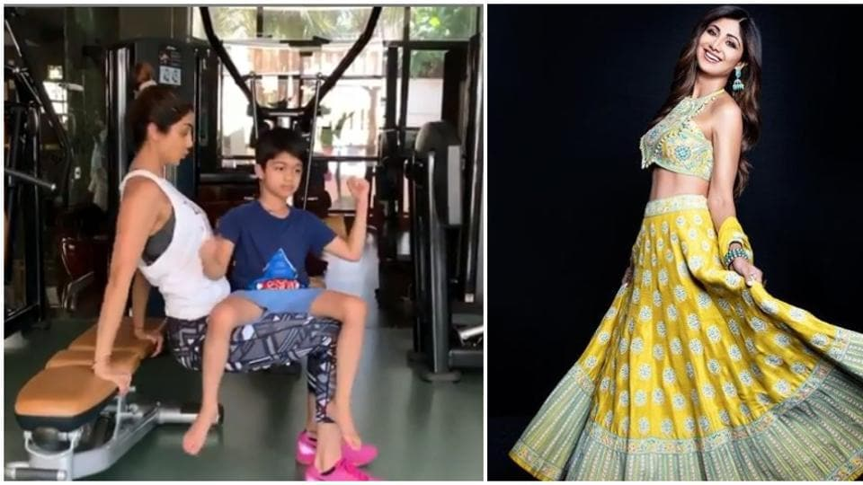 Shilpa Shetty shared a new video where she is exercising with her 'partner', her son Viaan.