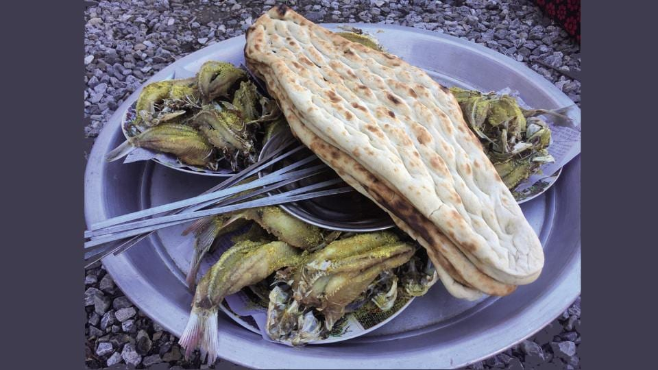 Fried fish in the Panjshir Valley