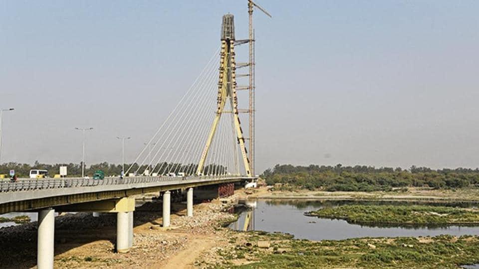 Image result for signature bridge yamuna malba