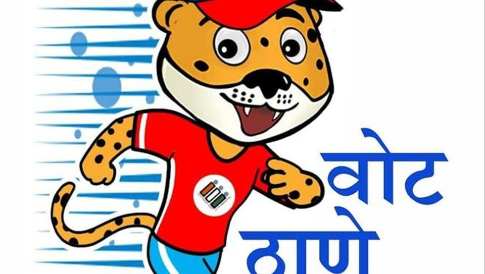 The Thane election office has adopted the leopard as its mascot.