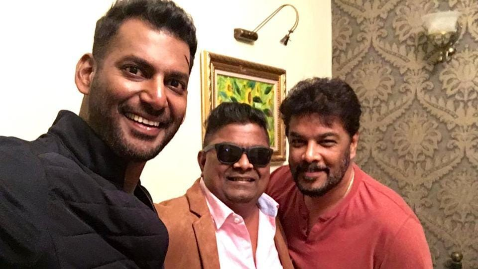 Vishal and Mysskin will soon work in Thupparivaalan 2. Seen here, the two with director SundarC.
