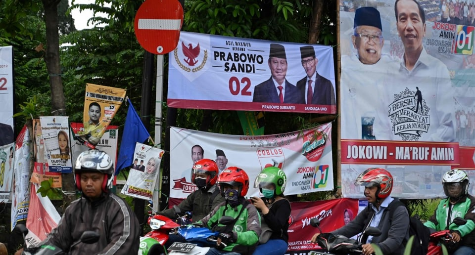 President Joko Widodo, a furniture businessman who entered politics 14 years ago as a small-city mayor, is seeking re-election against former general Prabowo Subianto, whom he narrowly defeated in the last election, in 2014.