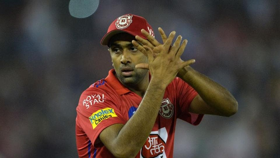 Kings XI Punjab cricketer and team captain Ravichandran Ashwin gestures after victory in the 2019 Indian Premier League (IPL) Twenty20 cricket match between Kings XI Punjab and Rajasthan Royals at The Punjab Cricket Association Stadium in Mohali on April 16, 2019