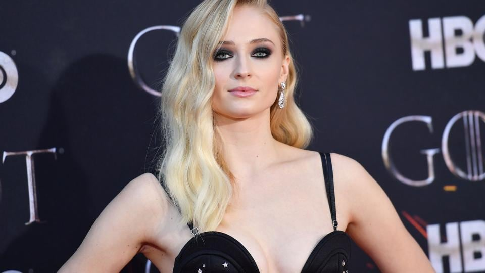 Actor Sophie Turner arrives for the Game of Thrones eighth and final season premiere at Radio City Music Hall.