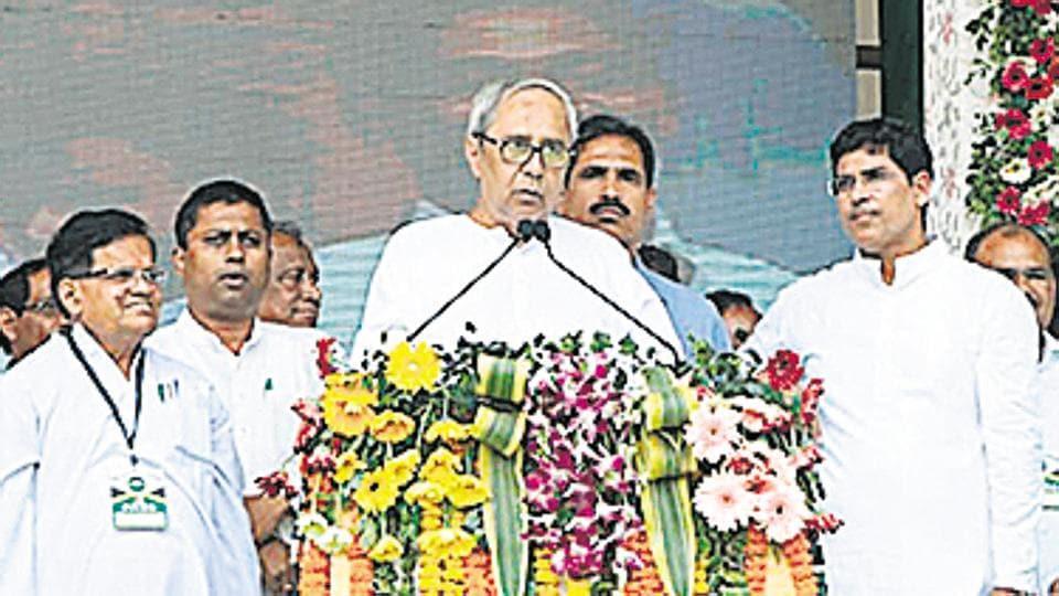 Odisha Chief Minister Naveen Patnaik at an election rally.