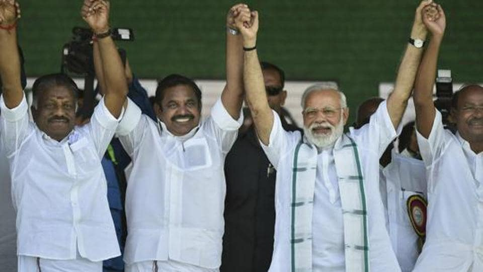The PMK and its founder S Ramadoss (centre) are betting on the BJP returning to power with a significantly smaller majority.