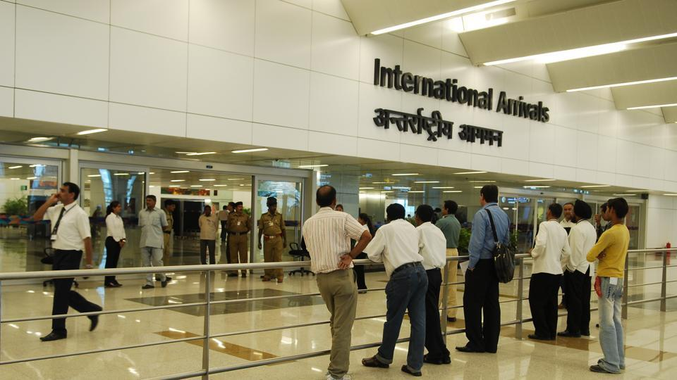 Officials said that after removing the lighter from her bag when the woman was allowed to go to the boarding area, she again created nuisance and had to be handed over to the Delhi Police.