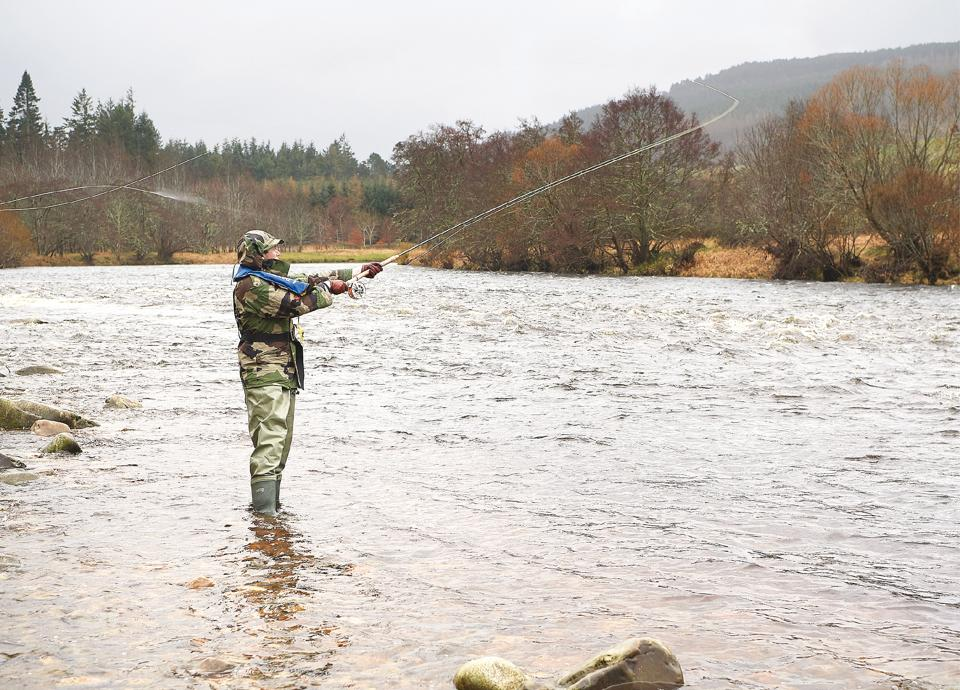 Fishing is genuine sport on river Spey in Scotland