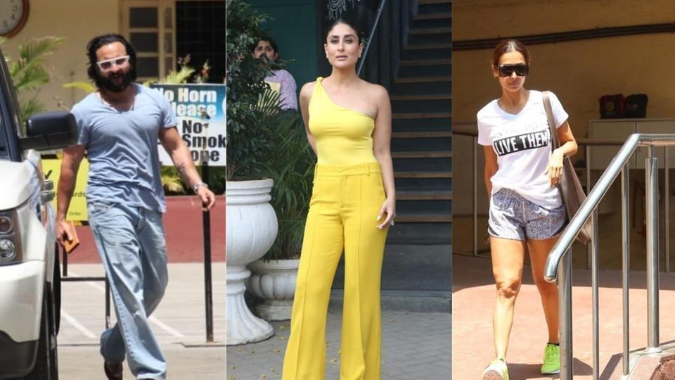 Saif Ali Khan, Kareena Kapoor and Malaika Arora spotted in Mumbai.