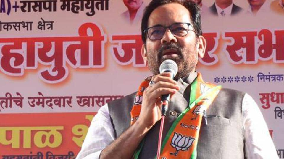 Union minister and senior Bharatiya Janata Party leader Mukhtar Abbas Naqvi has been let off with a warning by the Election Commission over his 'Modiji ki sena' remark.