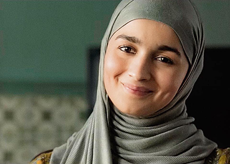 One spunky hijabi:Alia Bhatt in Gully Boy.