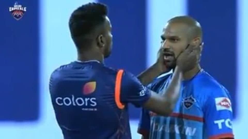 DC vs MI, IPL 2019: Hardik Pandya-Shikhar Dhawan banter sets Feroz Shah Kotla alight - Watch