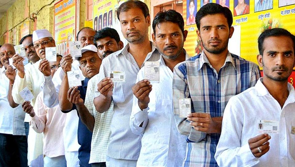 The polling at 20,716 polling booths was conducted peacefully, with no violence, except for a minor incident of stone pelting in Parbhani district.