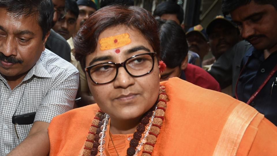 The 2008 Malegaon blast case accused Sadhvi Pragya Singh Thakur leaving the special NIA court after she was charged for terror conspiracy, murder, and other related offenses in Mumbai on October 30, 2018.