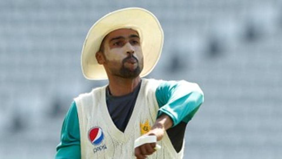 File image of Mohammad Amir in action during a training session.