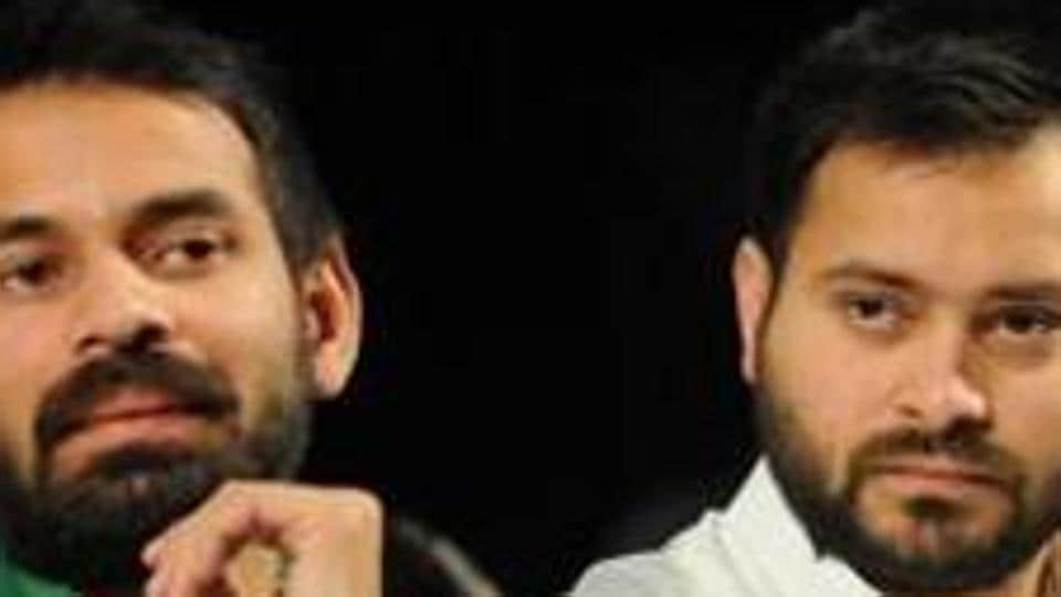 Tej Pratap Yadav's younger brother and former deputy CM Tejashwi Prasad Yadav said family matters should not be highlighted in public. File Photo