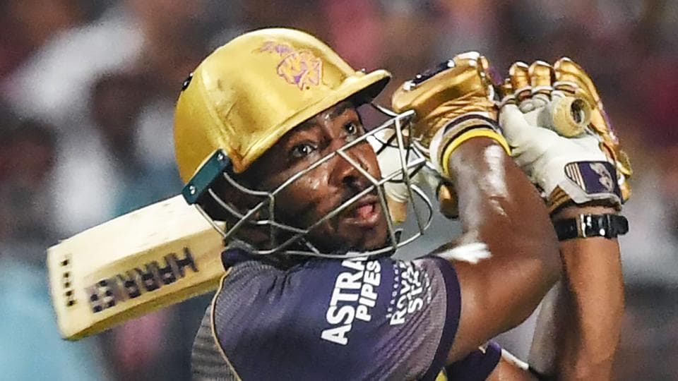 Kolkata Knight Riders' cricketer Andre Russell.