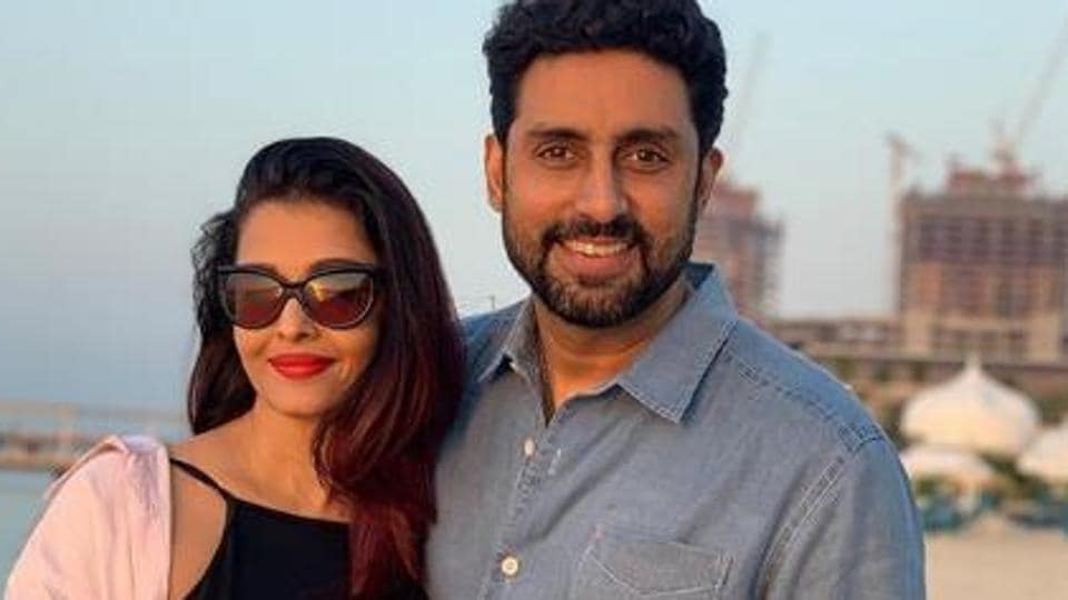 Abhishek Bachchan, alongwith wife Aishwarya and Aaradhya.
