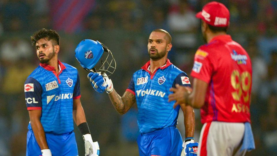 Image result for shreyas iyer and shikhar dhawan delhi capitals