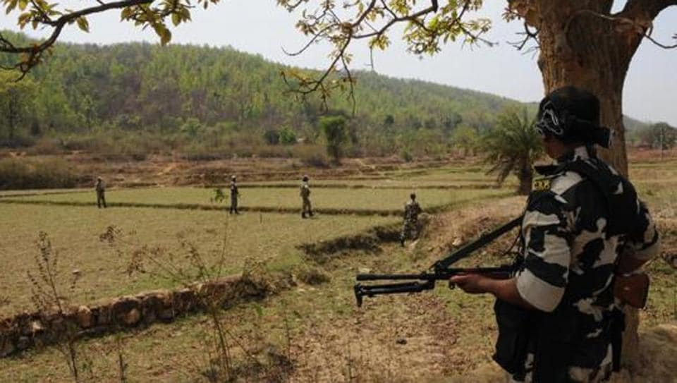 Two Maoists were gunned down in an encounter with security forces in Chhattisgarh's Bijapur district on Sunday, the police said.
