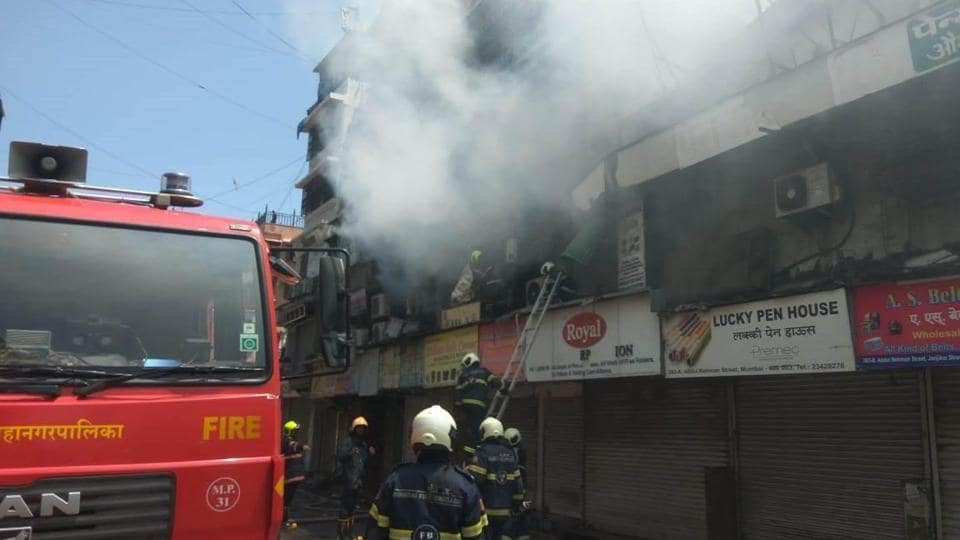 Officials of the disaster management cell of the Brihanmumbai Municipal Corporation(BMC) said that at around 11:50am the fire had been covered from all sides and will not spread further.