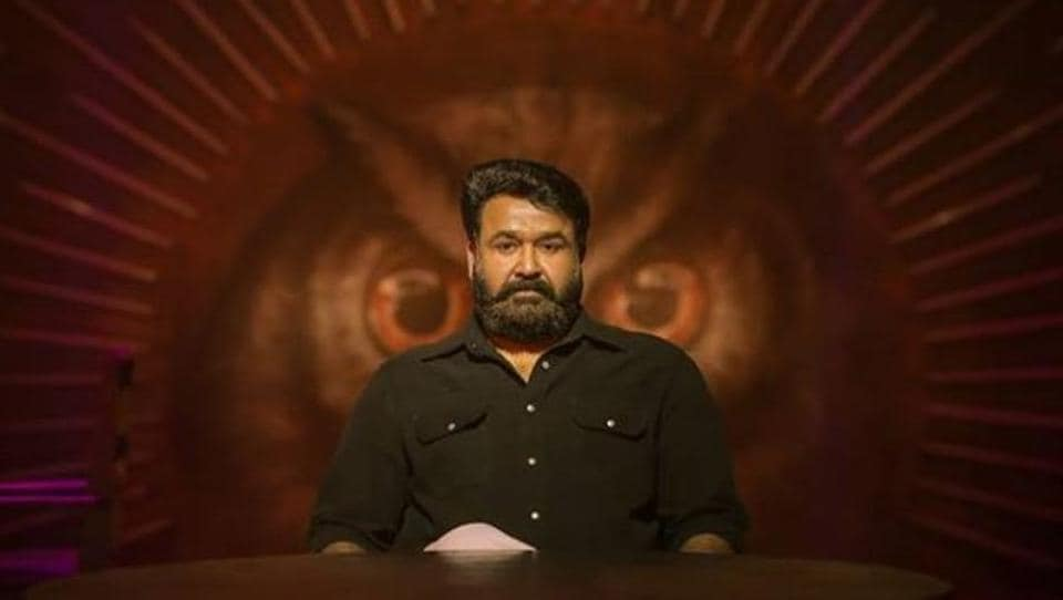 Mohanlal in a still from his film, Lucifer.