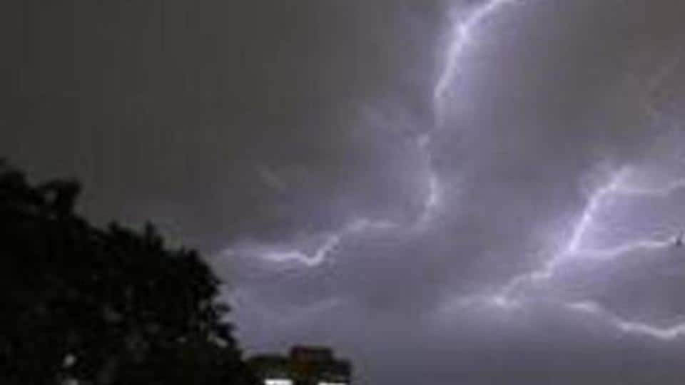 The first lightning strike took place at Chota Ajiyatu village under Ghagra police station around 1.30 pm, where it killed two people and injured one.