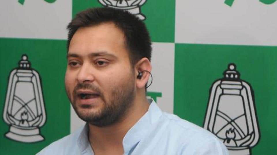 'Tamasha!', says Tejashwi on PM Modi touching his mother's feet