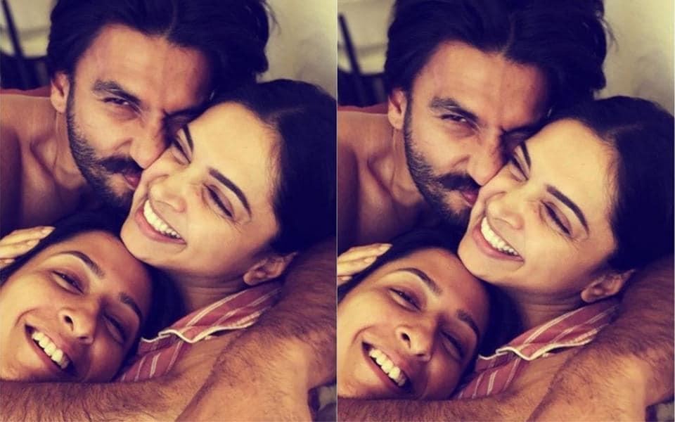 Deepika Padukone gets cuddles and snuggles from husband Ranveer Singh, sister Anisha in new pic