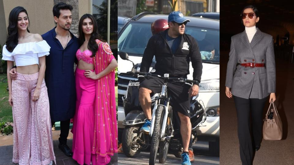 Salman Khan goes cycling on Mumbai streets, Sonam Kapoor kills it with her airport look. See pics