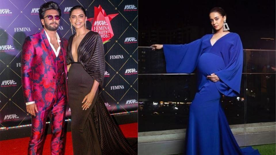 Ranveer Singh and Deepika Padukone had met Surveen Chawla at the Femina Beauty Awards in February.