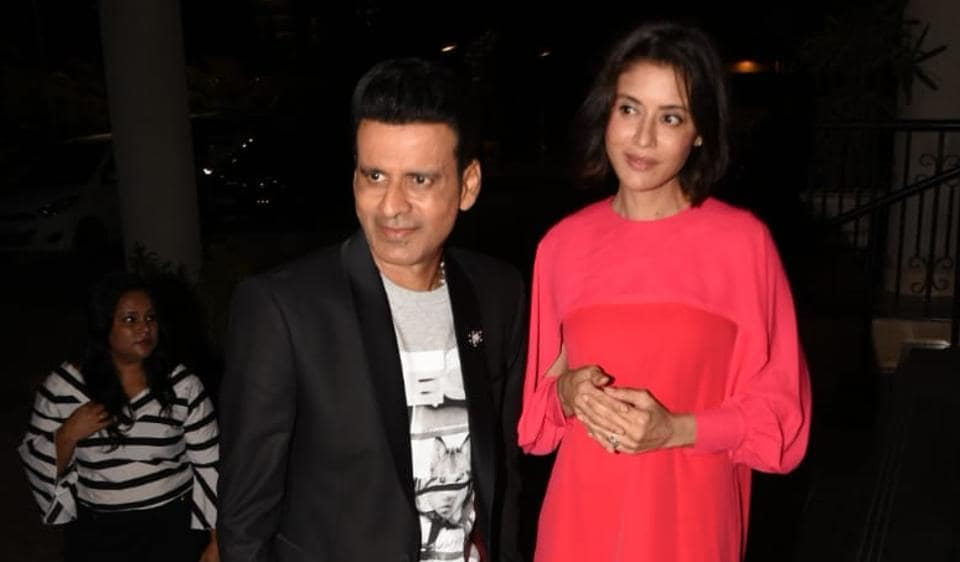 As he turned 50, Manoj Bajpayee celebrated his birthday in Mumbai with wife, daughter and friends.
