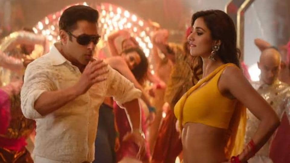 Salman Khan and Disha Patani in a still from the Bharat song, Slow Motion.