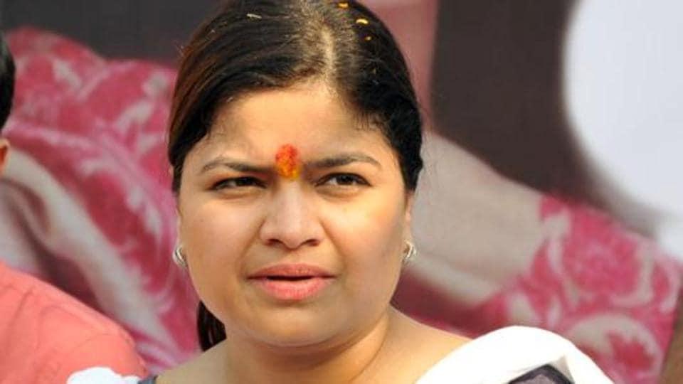 Poonam Mahajan,38, president of the Bharatiya Janata Party (BJP)  youth wing, and sitting Member of Parliament from Mumbai North-Central seat.