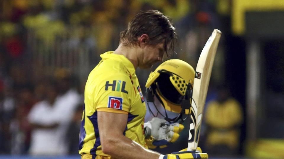 Chennai Super Kings Shane Watson walks to the pavillion after being dismissed during the VIVO IPL T20 cricket match between Chennai Super Kings and Sunrisers Hyderabad in Chennai. (AP)