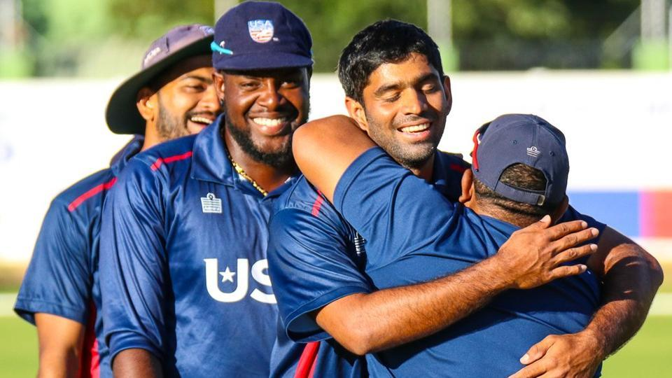 Saurabh led USA to a historic 84-run win over Hong Kong in the WCL Division 2 in Namibia.