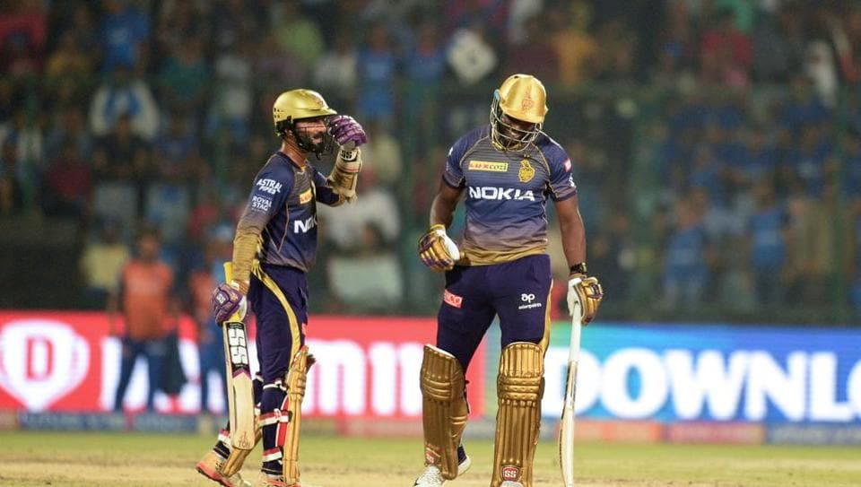 File image of Dinesh Karthik, Andre Russell