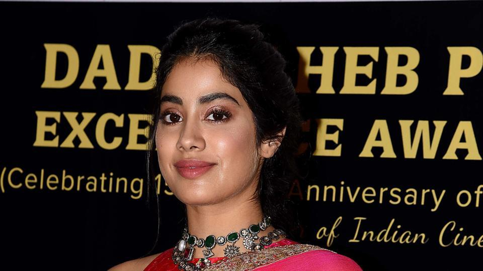 Janhvi Kapoor attends the Dadasaheb Phalke Excellence Awards 2019 in Mumbai on April 20, 2019.