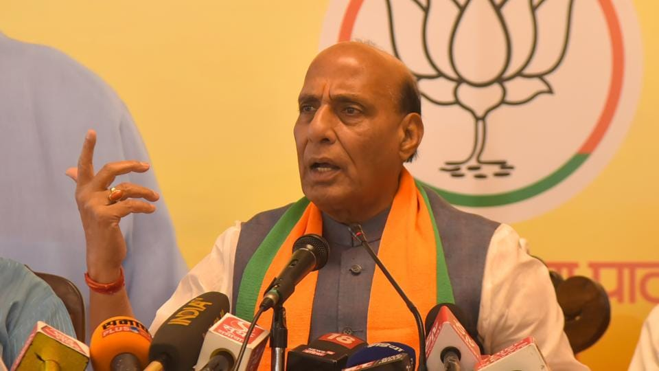 The NDA will win with a 3/4th majority, said Union home minister Rajnath Singh, at a rally in Nallasopara on Wednesday.